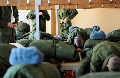 Выдача армейской одежды