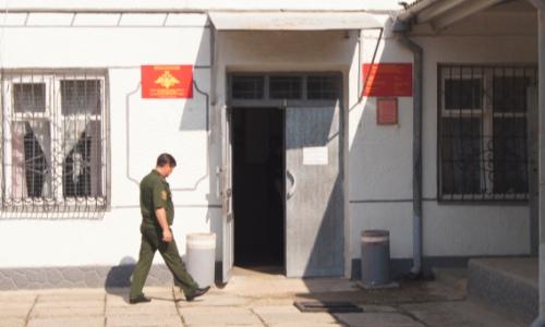 Вход в военкомат
