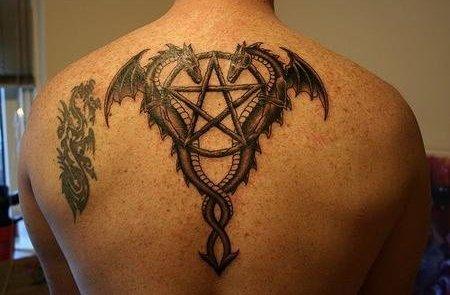 Религиозная символика на спине