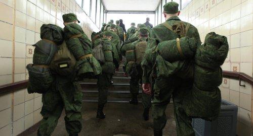 Отправка призывников в современную армию