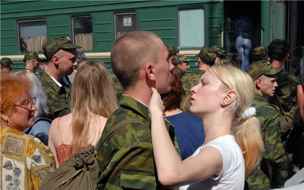 Отправка в армию поездом