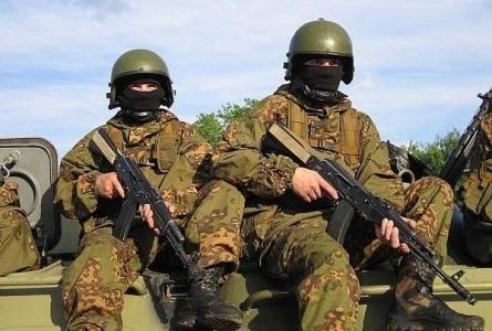 Солдаты на учениях