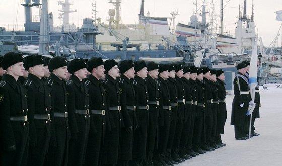 Зимняя форма одежды моряков