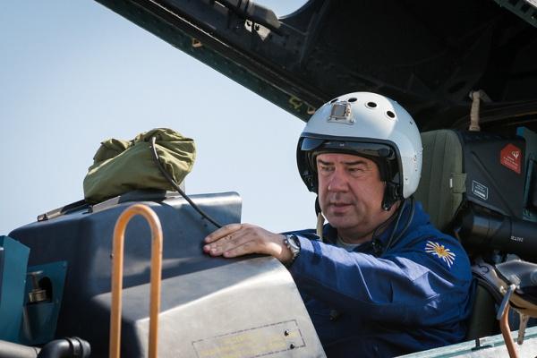 В кабине боевого самолета