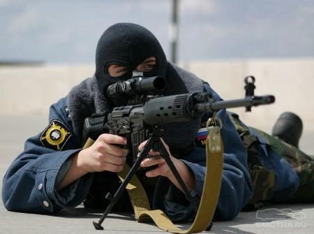 Снайпер на задании