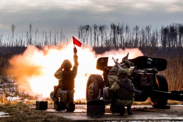 Работа артиллерии