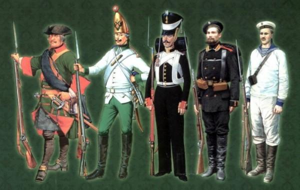 Развитие формы войск