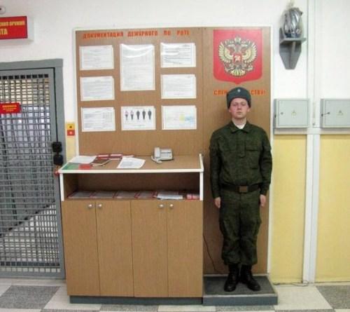 Дневальный на посту
