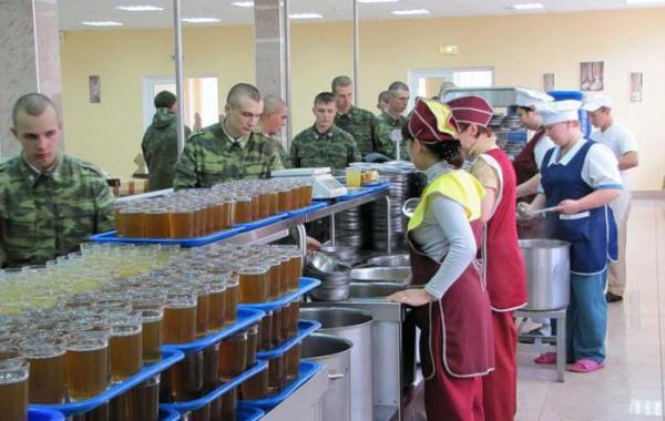 Работа столовой в армии