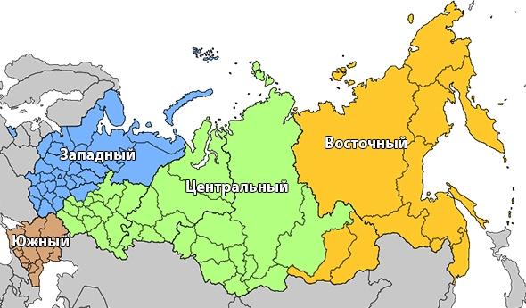 Территории округов