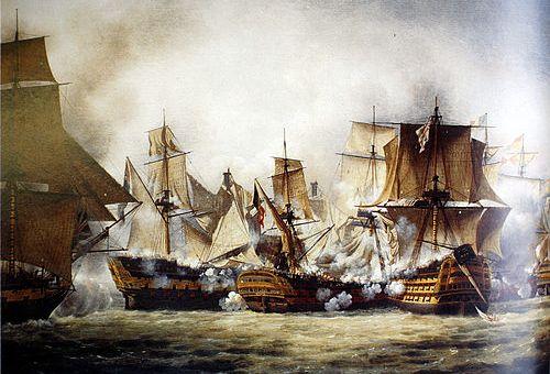 Сражение в море