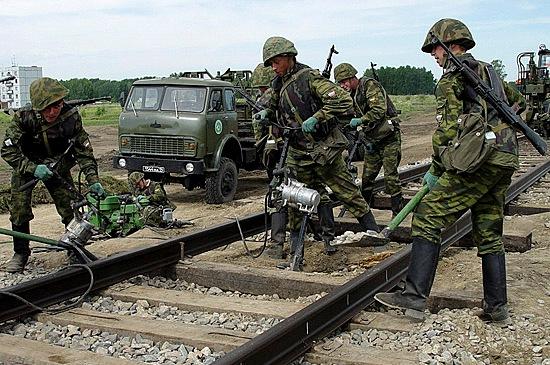 Работа железнодорожных войск