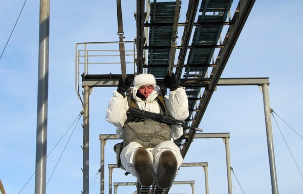 Тренировка прышков с парашютом