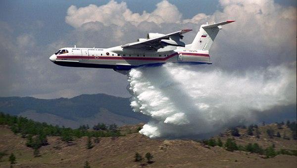 Сброс воды с самолета