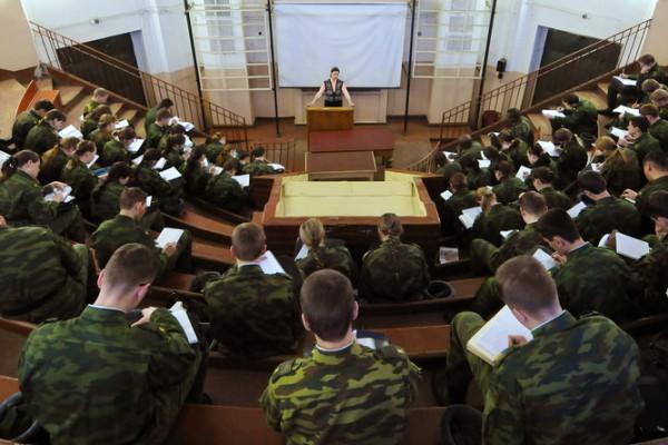 Проведение лекции на военке