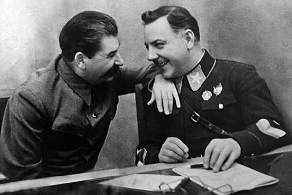 Климент Ворошилов и Иосиф Сталин