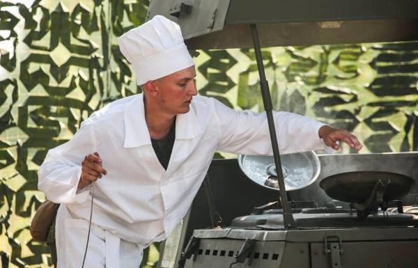 Работа с полевой кухней